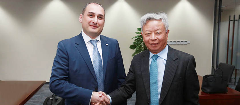 Dimitry Kumsishvili Met with Asia Infrastructure Investment Bank President, Jin Liqun - 13.04.2018