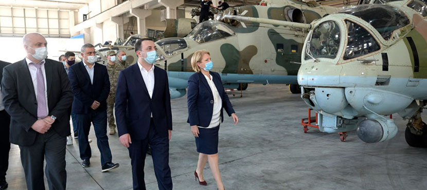 Natia Turnava and Irakli Garibashvili Opened New Aircraft Assembling Enterprise  - 17.10.2020