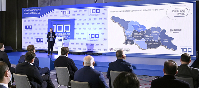 Natia Turnava Introduced 100 Investment Offers to Business Programme Presentation - 30.03.2021